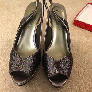 Guess women's size 9.5 open- toe,sling back